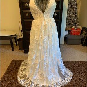 Beautiful white sequined dress